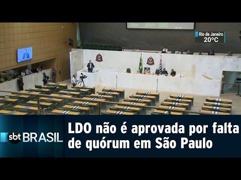 Lei de Diretrizes Orçamentárias não é aprovada por falta de quórum em SP | SBT Brasil (14/08/18)