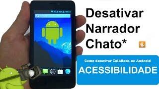 Telefone travado e falando Sozinho. Saiba como desativar acessibilidade o TalkBack no Android