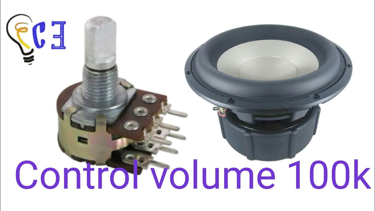 Control Volume using 100k variable resistance ( Creative Electronics)