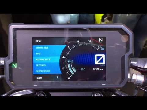 Duke390 2017 edition speedometer test