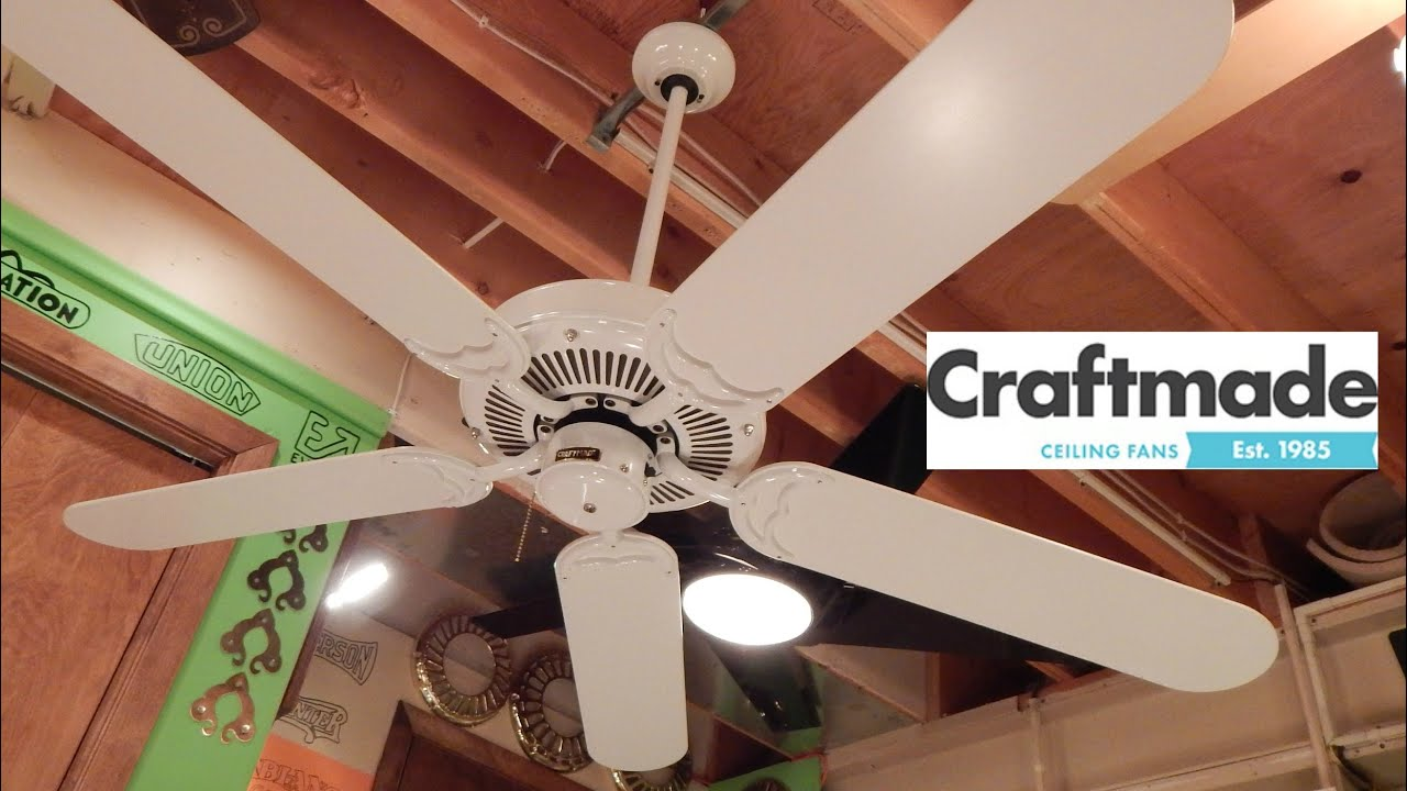 craftmade decorative ceiling fan - youtube