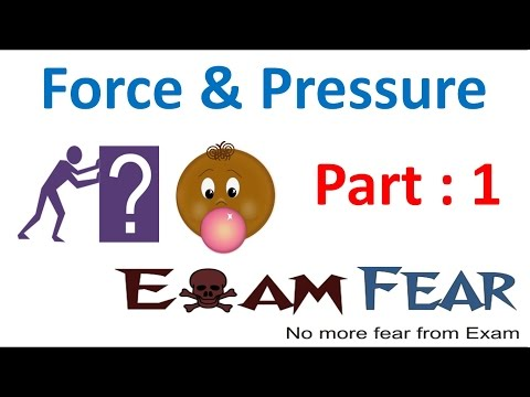 Physics Force & Pressure Part 1 (Introduction) Class 8  VIII