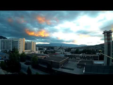 TimeLapse - Cloudy sunset in Sarajevo