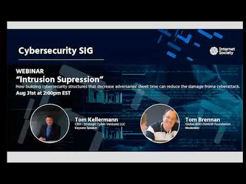 Webinar: Intrusion Suppression by Tom Kellermann