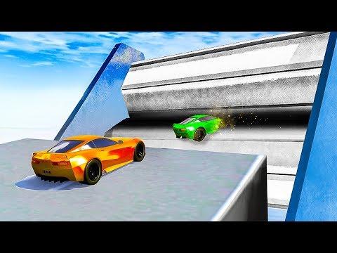 GRINDER vs. CARS! (BeamNG Drive)