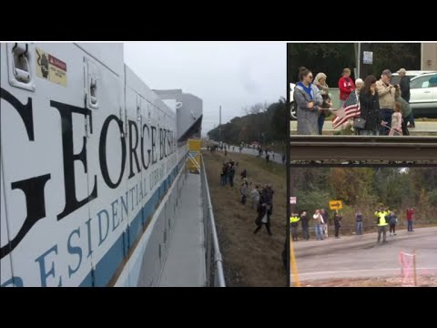 Former President George H.W. Bushs funeral train departs