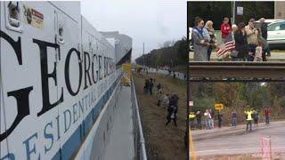 Former President George H.W. Bush's funeral train departs