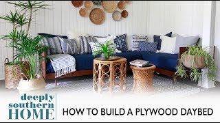 DIY Plywood Mid Century Daybed: #PlywoodPretty Challenge