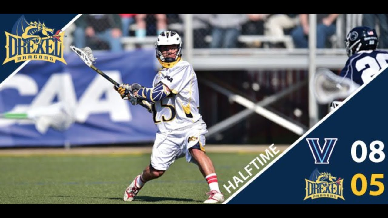 Drexel men's lacrosse falls at Villanova - YouTube