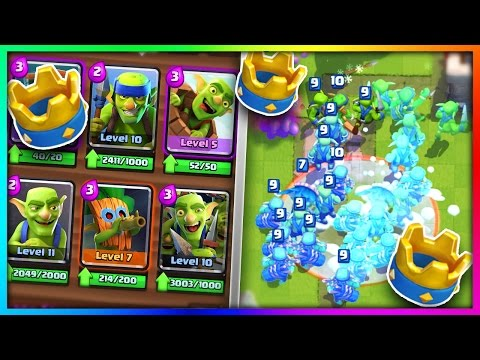 "WHAT HAPPENS IF YOU USE an ""ALL GOBLIN GANG"" DECK in Clash Royale!?"