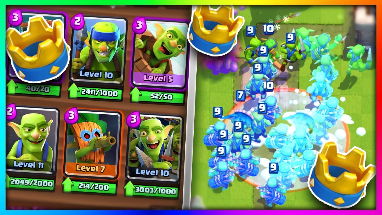 What happens if you use an all goblin gang deck in clash for Clash royale deck arc x
