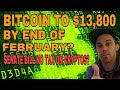 Bitcoin BTC To Hit $13,800 Line Of Resistance End Of Feb - Senate To Exempt Cryptos From Tax?