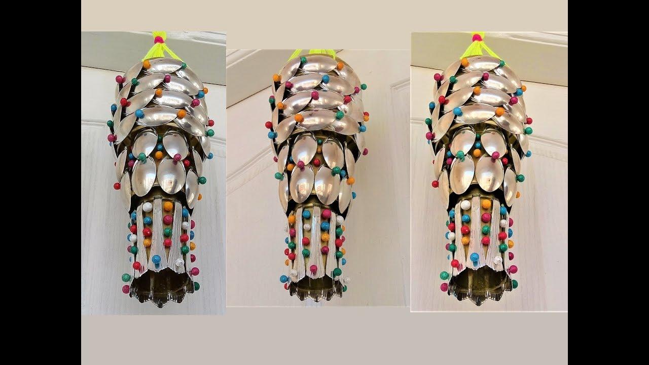 Plastic Bottle Amp Plastic Spoon Craft Wall Hanging Wind