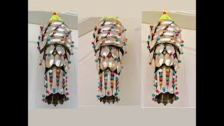 Plastic Bottle & Plastic Spoon Craft / Wall Hanging / Wind Chime / Recycle Idea / Best out of waste