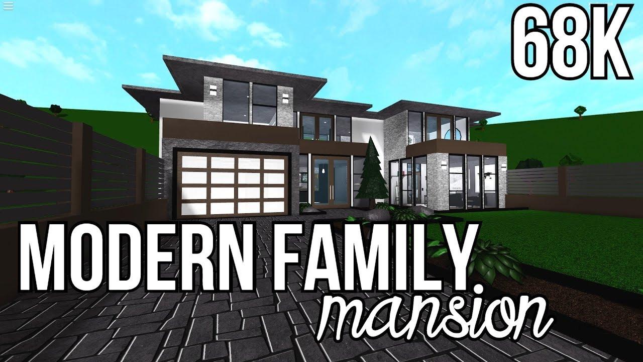 Roblox Bloxburg Modern Family Mansion 68k Youtube