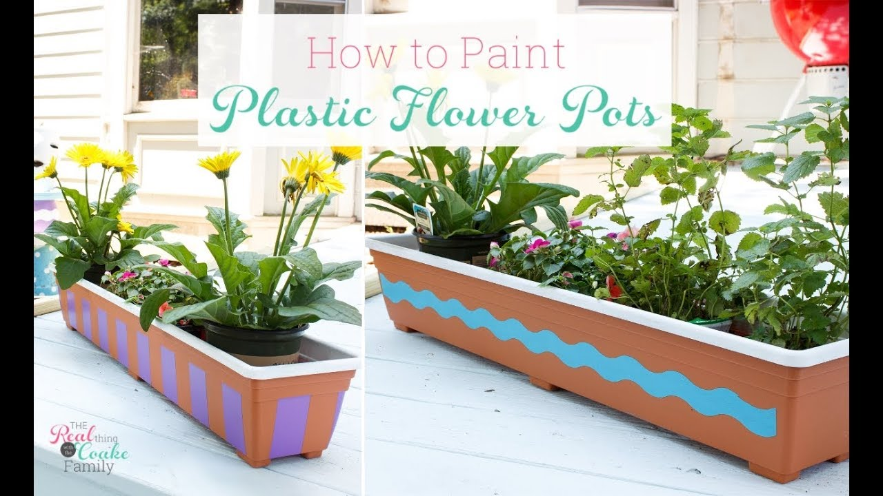 Painting Plastic Flower Pots Youtube
