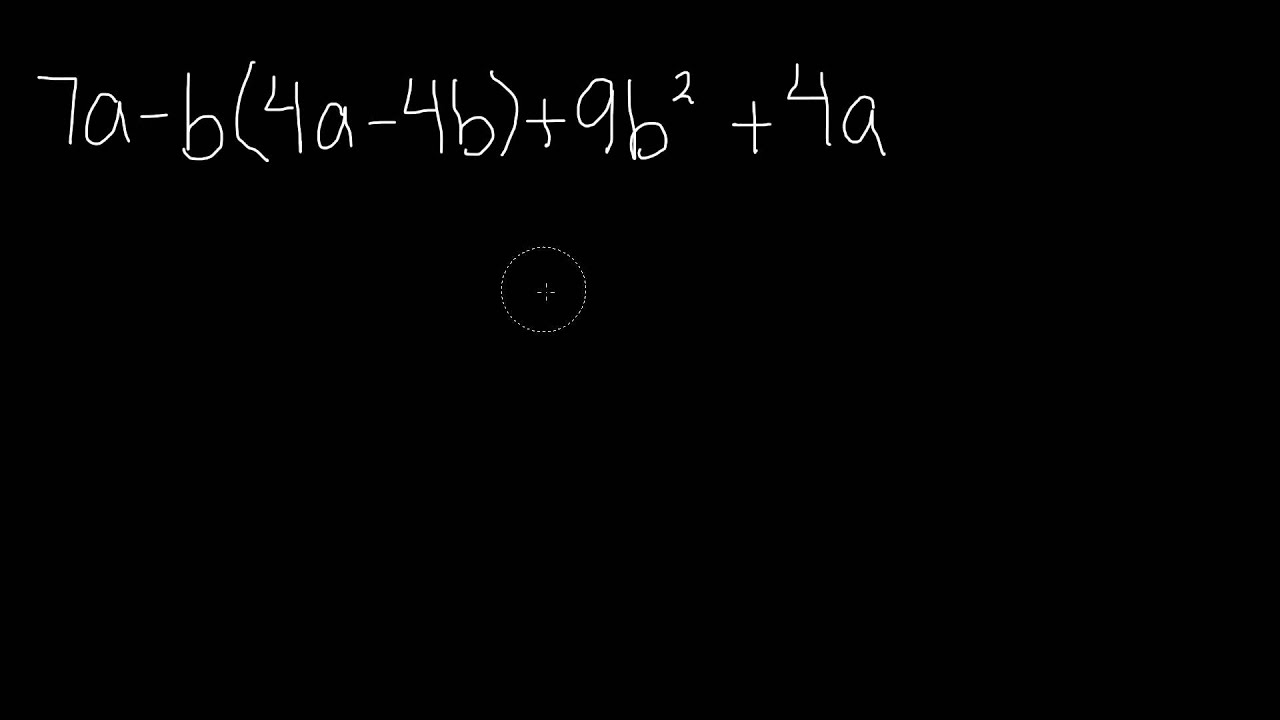 Simplifying Algebraic Expressions 7th Grade Math Youtube