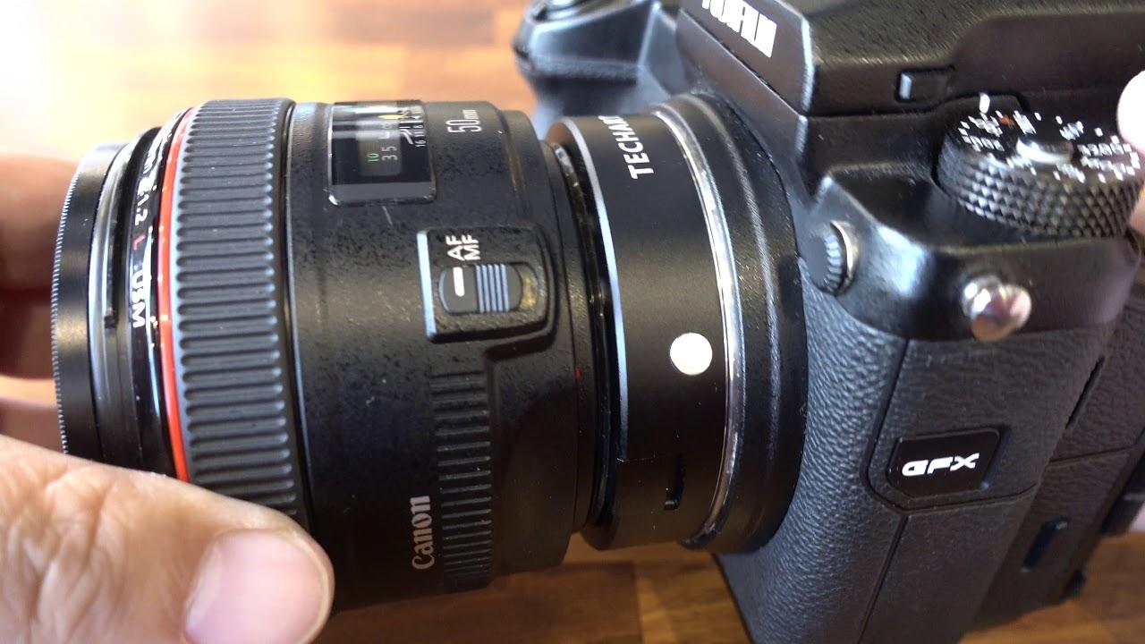 Techart Canon EF Lens to Fujifilm GFX Autofocus Adapter (EF-GFX)