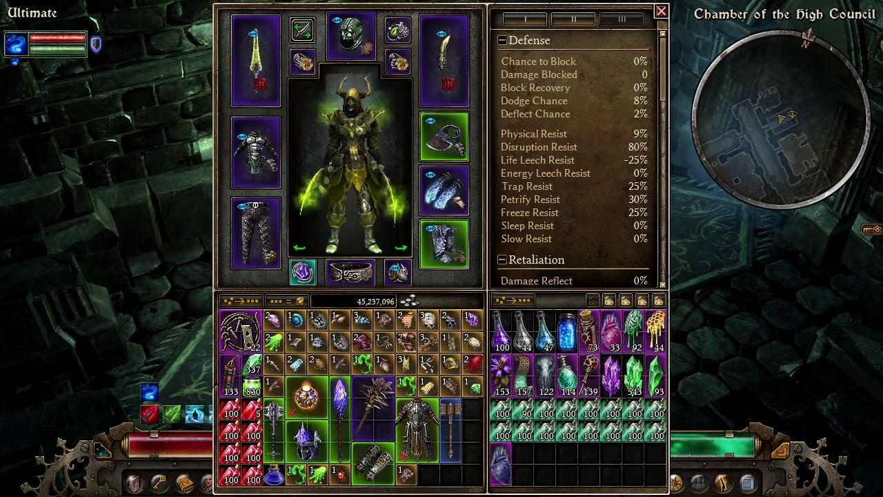 Grim Dawn - DW Poison Witch Hunter against MadQueen, Fabuis & High Council  Aom V1 0 4 0