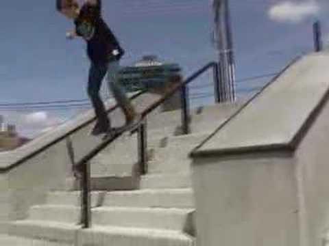Ryan Boone skateboarding