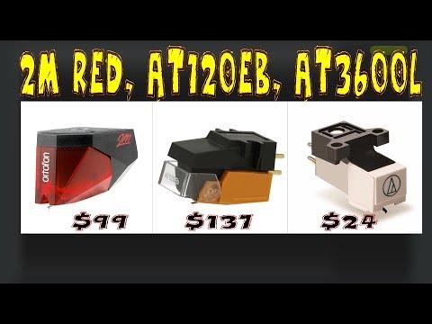 Ortofon 2m Red Vs. AT120eb Vs AT3600l