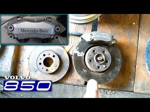 Установка тормозов brembo на Volvo 850.