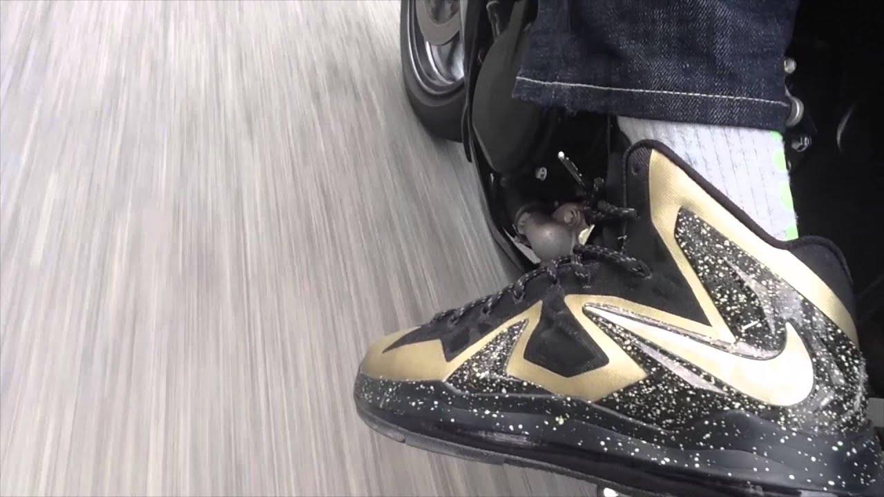 reputable site 35f52 2343e Nike LeBron X P.S. Elite + Riding On GSX-R Motorcycle