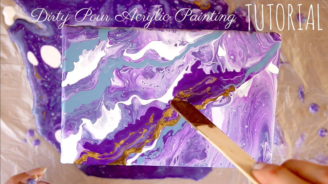 Acrylic Dirty Pour Painting