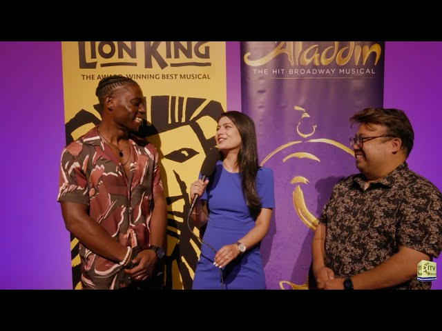 Broadway is Back with Disney's The Lion King and Aladdin - Brandon A. McCall and Don Darryl Rivera