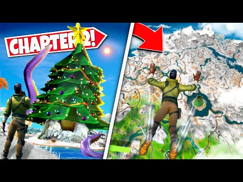 *NEW* FORTNITE CHAPTER 2 LEAKED *SNOW MAP* INCOMING! FIRST LOOK, GAMEPLAY AND MORE! (Battle Royale)