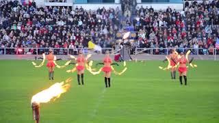 """- Выступает экстрим-балет """"Fire Angels"""". Мировое шоу каскадёров в Смоленске. Сентябрь 2013 года. -"""