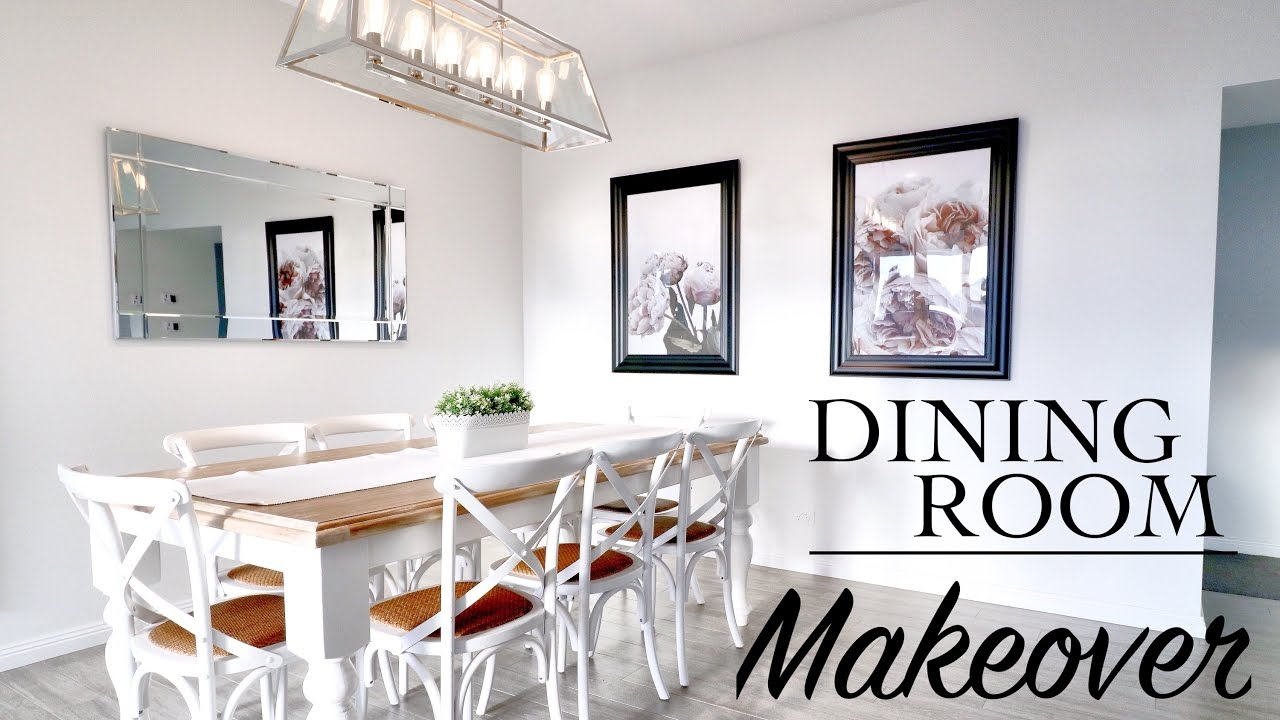 DINING ROOM MAKEOVER! Hamptons Style - YouTube