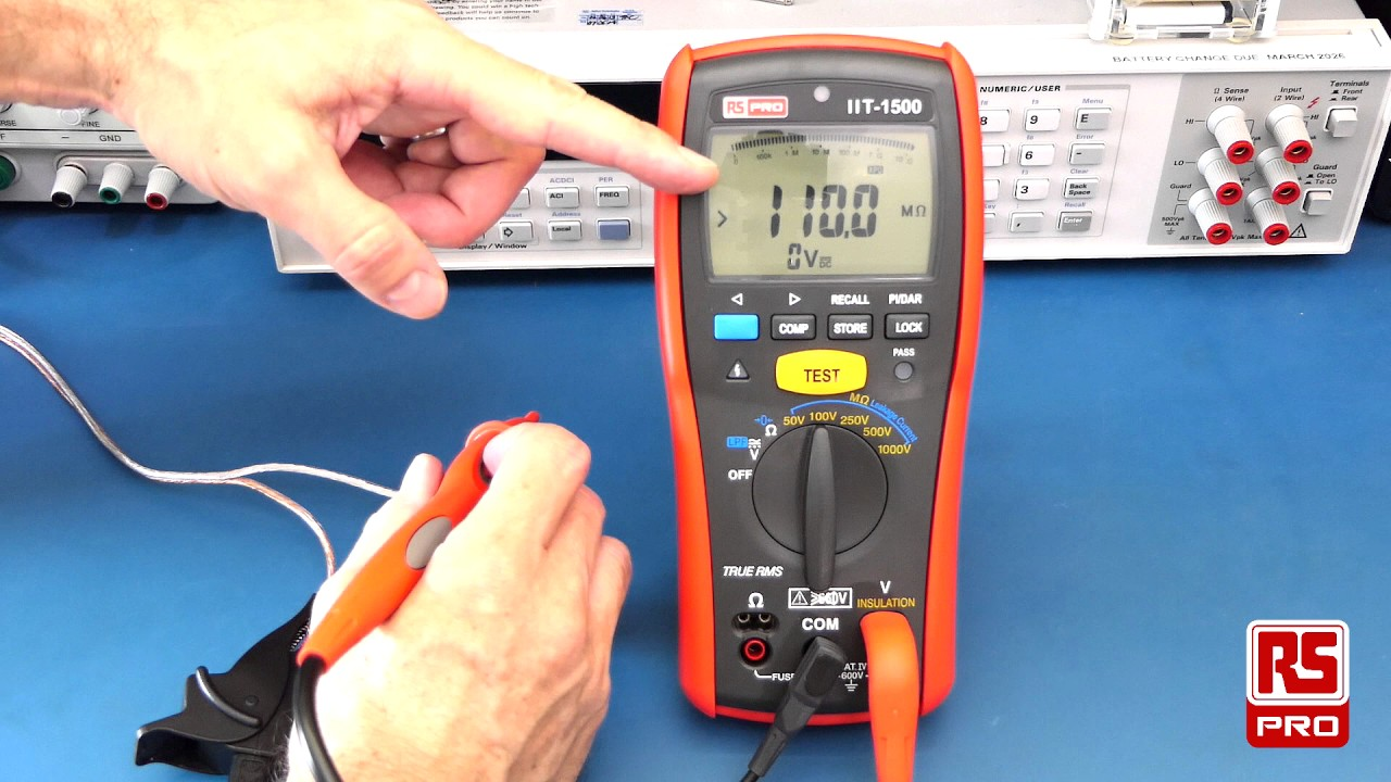 RS Pro IIT 1500 Insulation Tester Review - YouTube