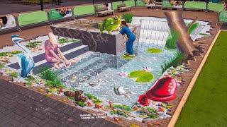 3D Street art - Pond by Rianne te Kaat