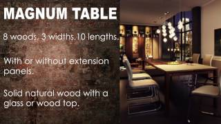 Wharfside Furniture - The Magnum Dining Table