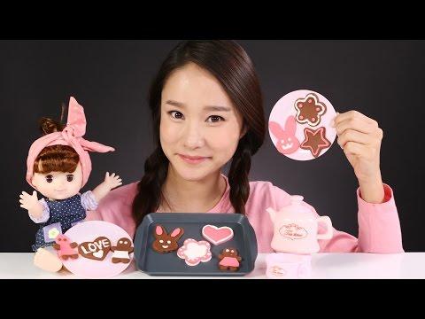 캐리의 키즈쿡 쿠키요리 장난감 만들기 아기인형 소꿉놀이 CarrieAndToys