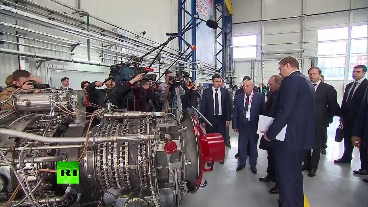 Путин дал старт производству новых российских корабельных двигателей