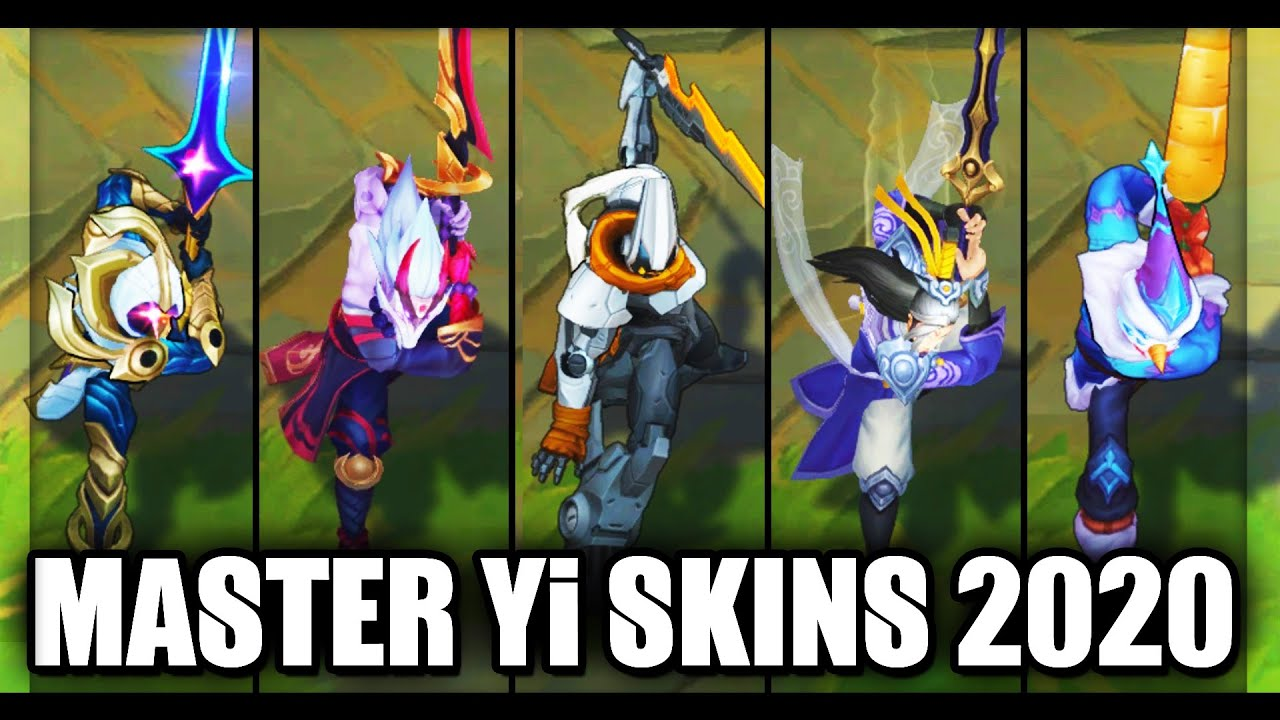 All Master Yi Skins Spotlight 2020 (League of Legends)