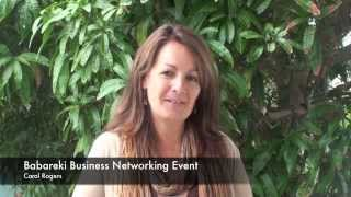 Babareki Business Networking Events Testimonial-  Carol Rogers Happy Herb Surfers Paradise