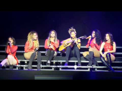 Fifth Harmony- Brave Honest Beautiful (acoustic) (7/27 Tour Brooklyn, New York ) HD