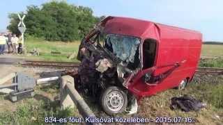 Halálos vasúti baleset Külsővat közelében   vonat oldalának csúszott a Peugeot