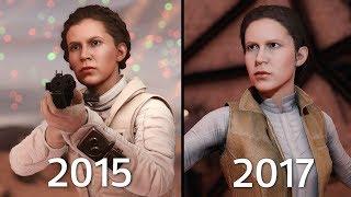 Princess Leia Battlefront 1 (2015) vs Battlefront II (2017) Graphics Comparison thumbnail