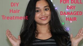 How to Treat dry and damaged instantly hair at home   Get silky smooth hair at home