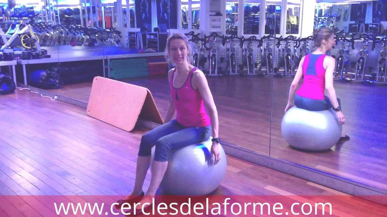 Parfait Exercice 1 de Pilates avec Ballon proposé par Astrid au Cercle  BA62