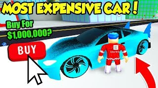 BUYING THE MOST EXPENSIVE CAR IN MAD CITY!! *1 MILLION CASH* (Roblox)