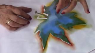 Tutorial Pintura en Tela Hojas QueSeCose II