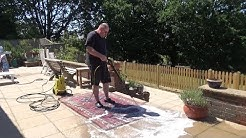 Easy DIY Rug Cleaning - Laundry Powder and Pressure Washer