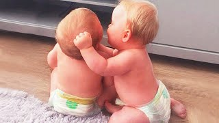 The Best Twin Baby Videos Of All Time  JustSmile