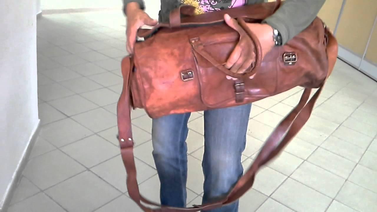 9ec3629c Дорожная сумка из натуральной кожи - YouTube