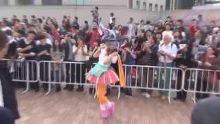 お台場で行われたハロウィン仮装パレードでの一コマです。